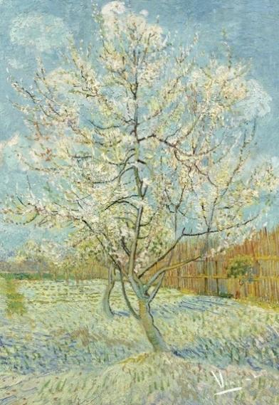 fotobehang BN Wallcoverings Van Gogh 30541 De roze perzikboom