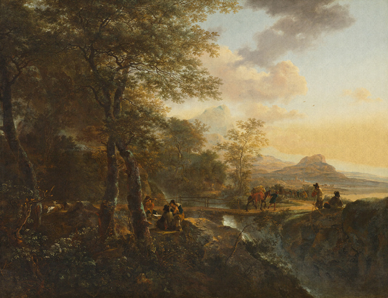 Dutch Painted Memories 8022 Italian Landscape Jan Both
