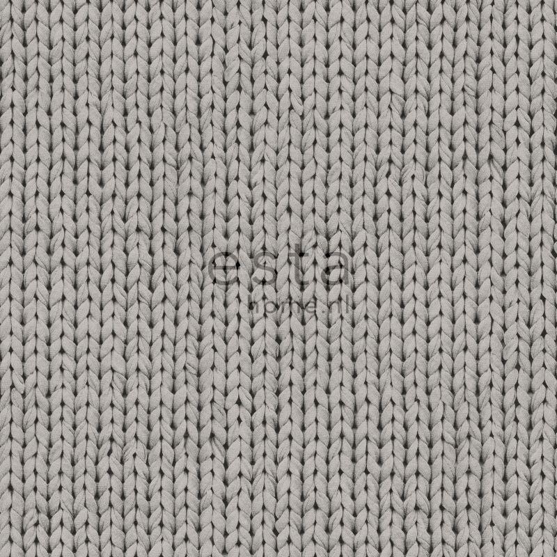 Behang Esta Denim & Co 137721 Knitting grey