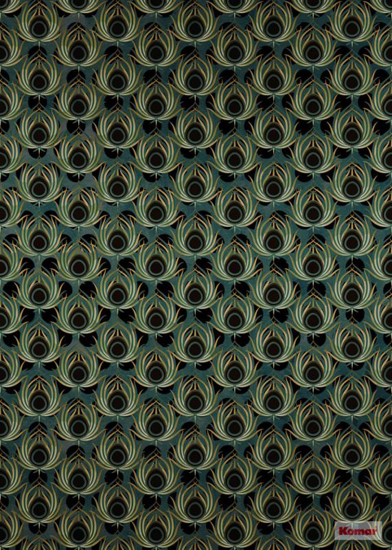 Komar Heritage HX4-034 Poan vert Jugendstil fotobehang