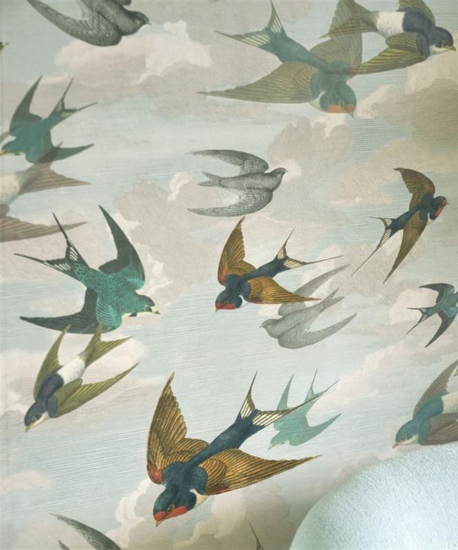 John Derian for Designers Guild PJD6003/01 Chimney Swallows