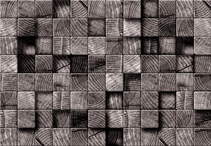 Fotobehang 3D Wooden Blocks