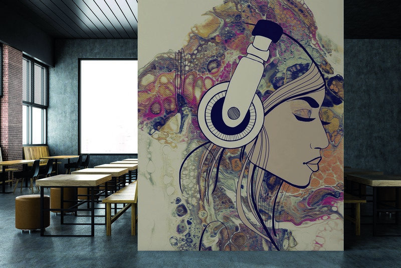 Fotowand Acryl Lady 3 by Sabrina Ziegenhorn afm. 200cm x 270cm hoog