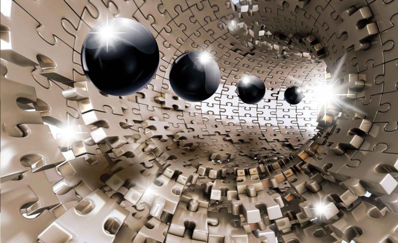 Fotobehang Abstract en Puzzel