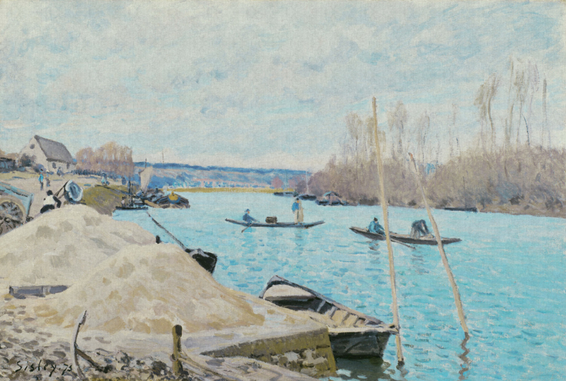 Dutch Painted Memories 8080 The seine at Port-Marly, Piles of sand