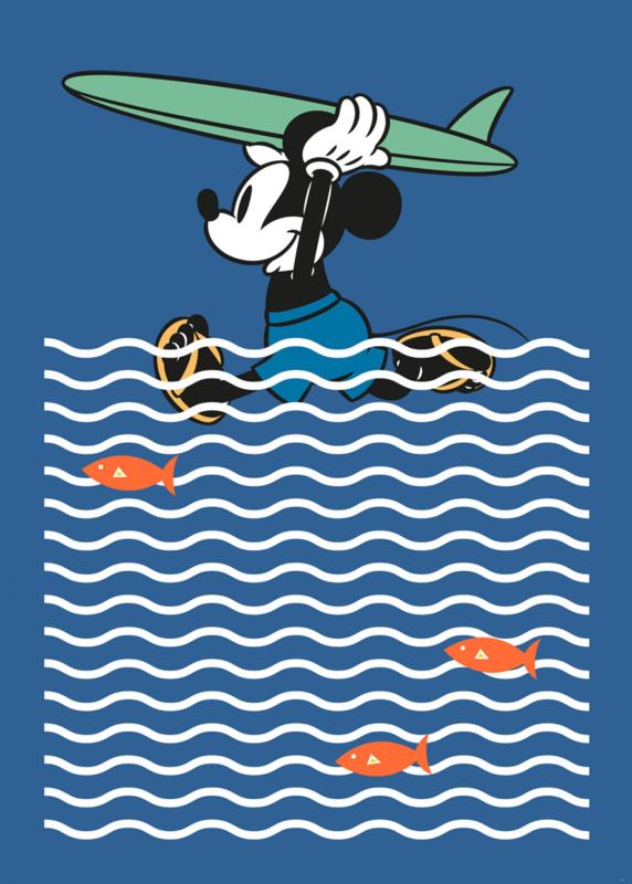 Komar fotobehang DX4-025 Mickey Gone Surfin'