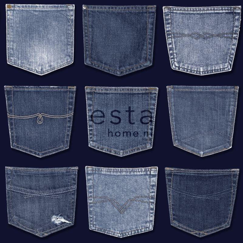 Behang Esta Denim Co 137741 Jeans Pocket Blue Esta Denim Co Behang Koop Je Online Bij Behangexpert
