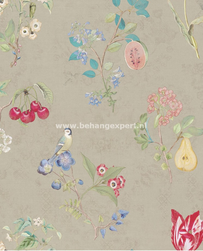 Eijffinger PiP Studio behang 375021 Cherry PiP Khaki