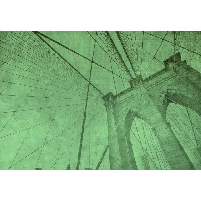 Fotobehang Brooklyn Bridge Groen