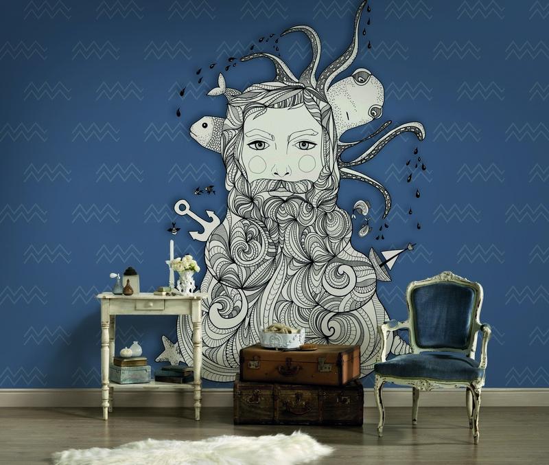 Fotowand Aquarius 2 by Sabrina Ziegenhorn afm. 400cm x 270cm hoog