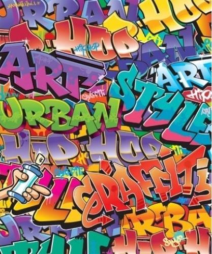 Walltastic posterbehang 43855 Graffiti