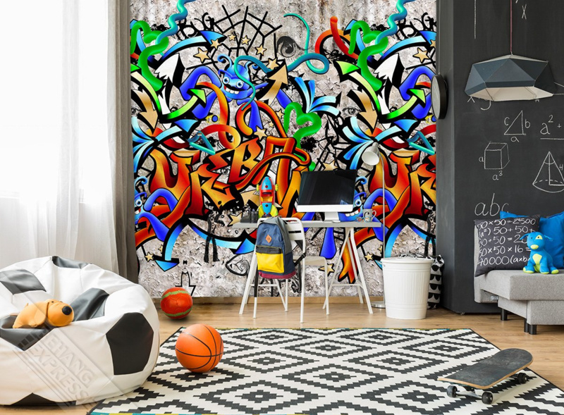 Behangexpresse Thomas - Fotobehang INK 7101  graffiti and cars