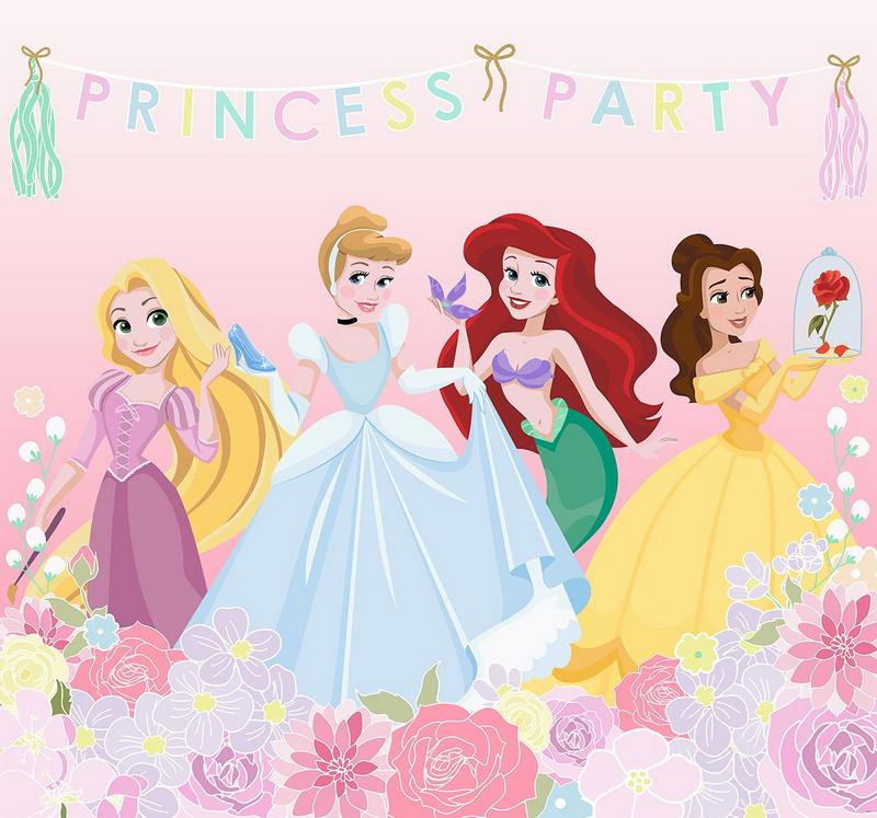 Kids@home fotobehang 111386 Princess Party Wall Mural