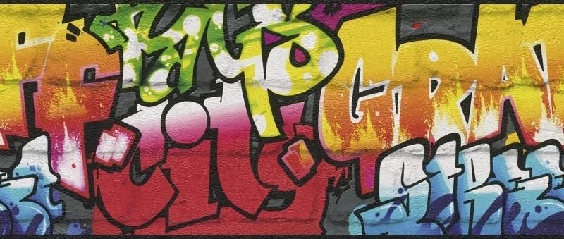 Behangrand Rasch Kids & Teens 237900 graffiti