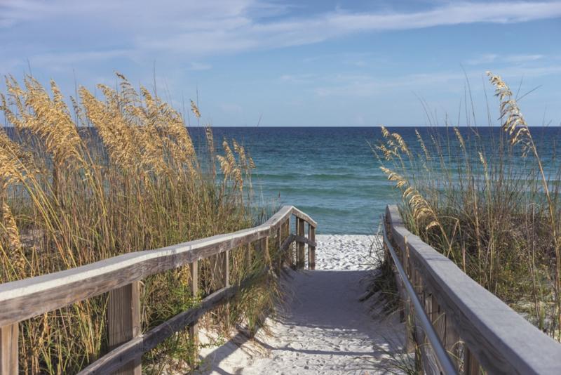 Fotobehang Naar het strand