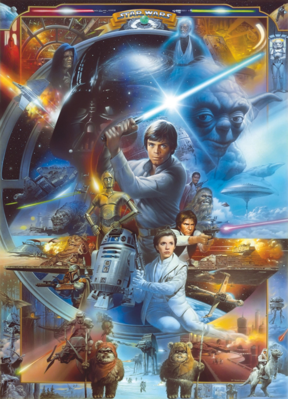 Komar fotobehang 4-441 Star Wars Luke Skywalker Collage