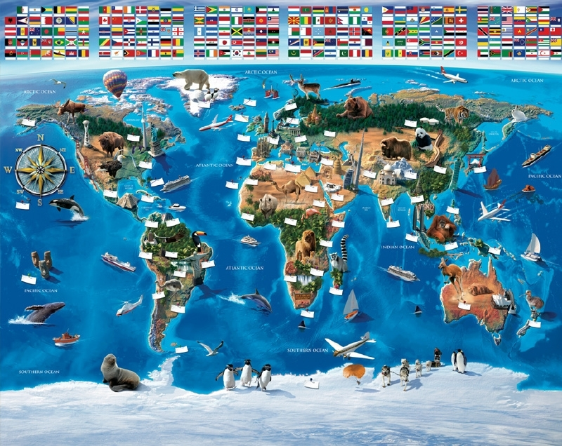 Walltastic posterbehang 41851 Map of the world