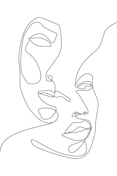 Esta Black&White 158936 photowall XL faces