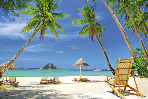 Fotobehang Tropisch strand