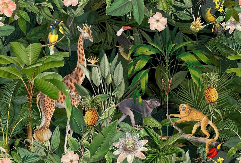 Fotowand Nostalgic animals 2 by Andrea Haase afm. 400cm x 270cm hoog