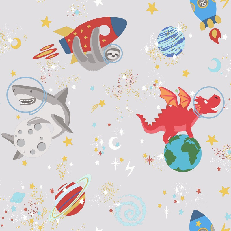 Over the Rainbow 90920 Space Animals Grey glow in the dark
