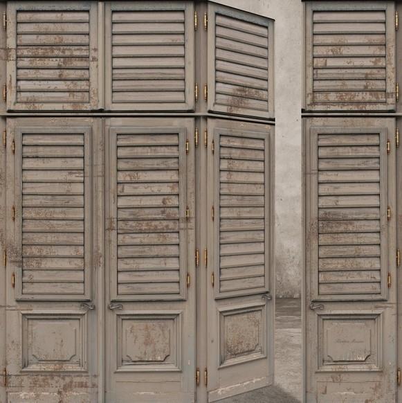 Fotobehang Riviera Maison Louvre Doors