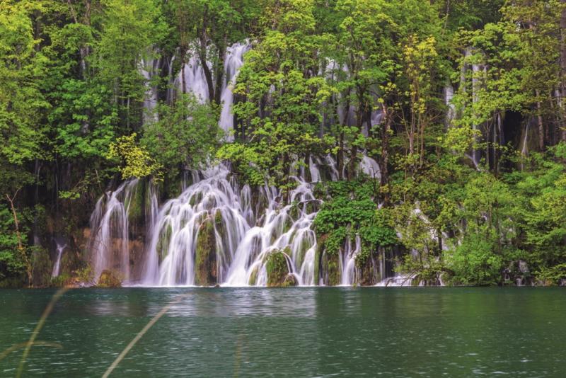 Fotobehang Plitvicemeren