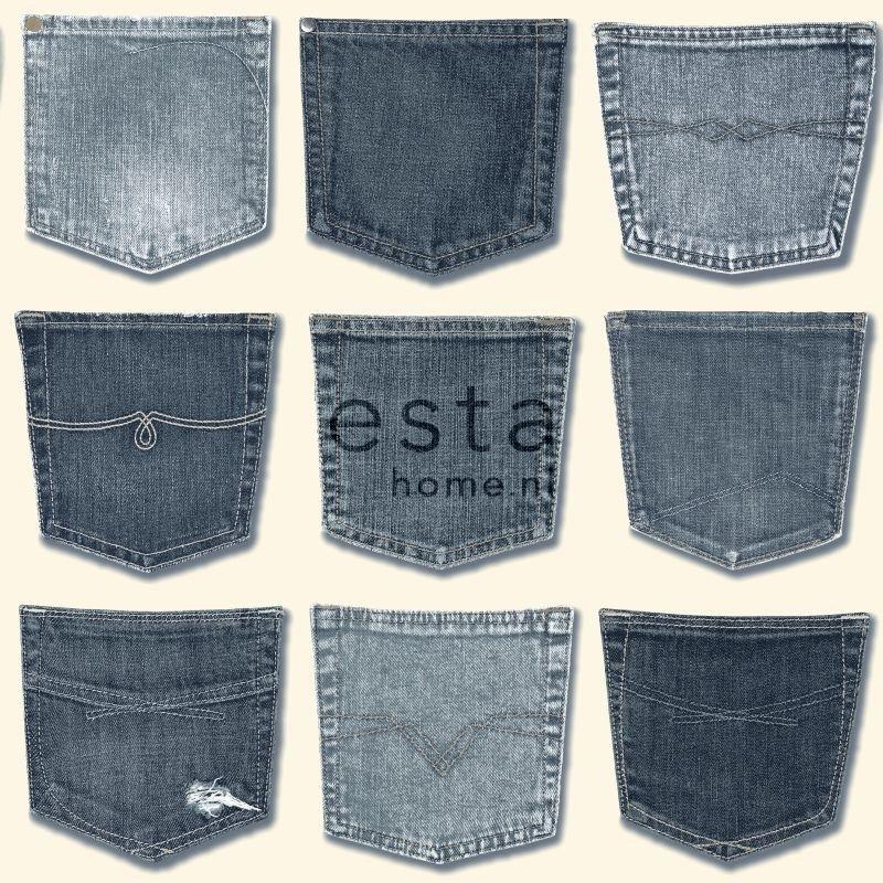 Behang Esta Denim & Co 137739 Jeans pocket light blue