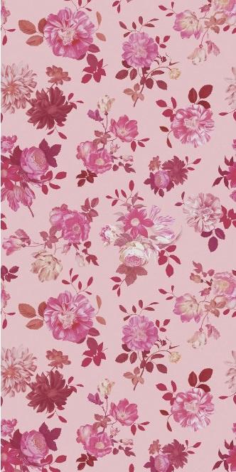 Eijffinger Rice Fotobehang 383613 Vintage Flowers Black