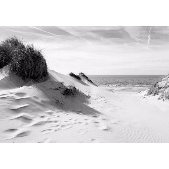 Fotobehang naar het Strand Zwart Wit