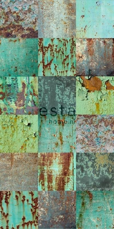 Esta Greenhouse 158203 vlies wallpaper XXL weathered emerald