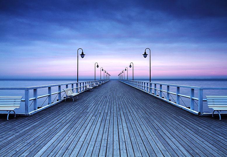 Fotobehang Idealdecor 00969 Pier at the Seaside
