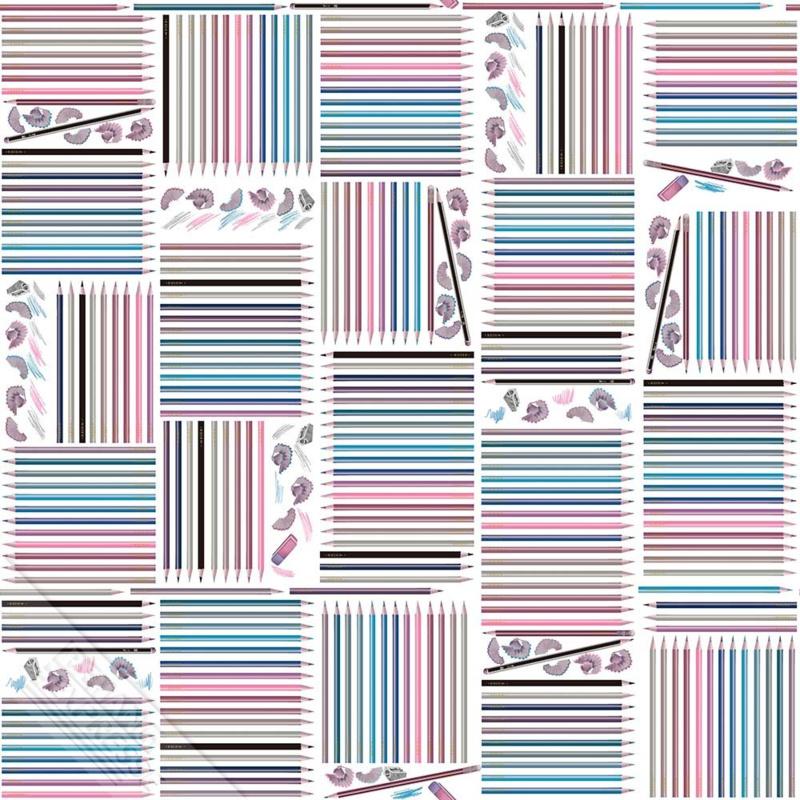 Behangexpresse Thomas - WE 66233 kleurpotloden
