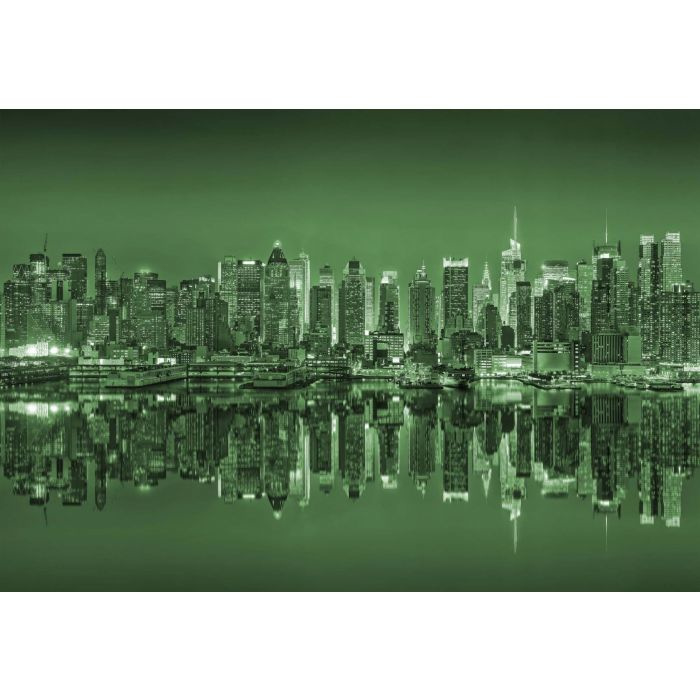 Fotobehang New York Reflections in Green