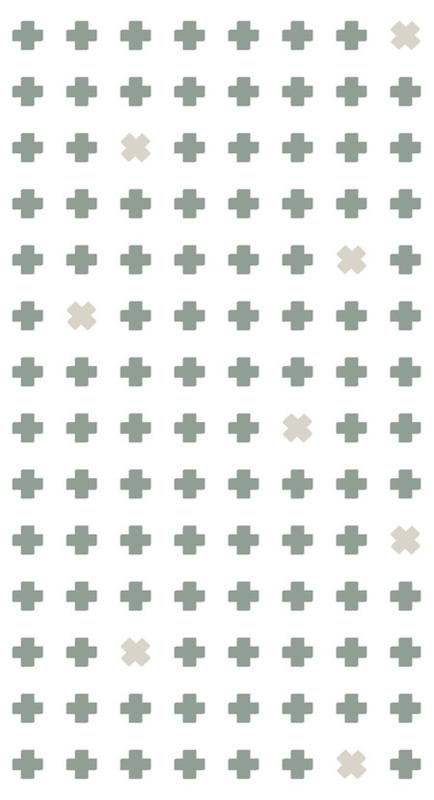 Bibelotte behang Cross groen 28022