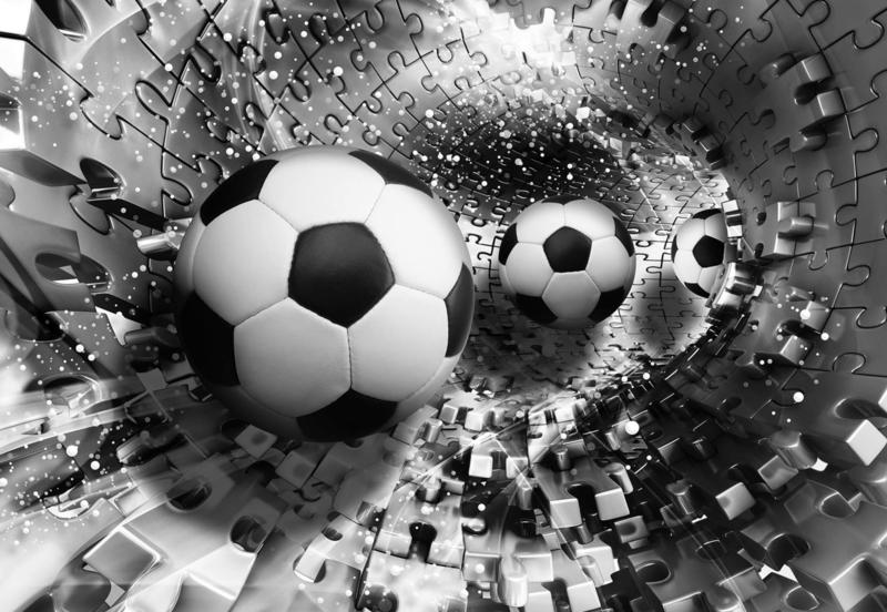 Fotobehang Voetbal Puzzel