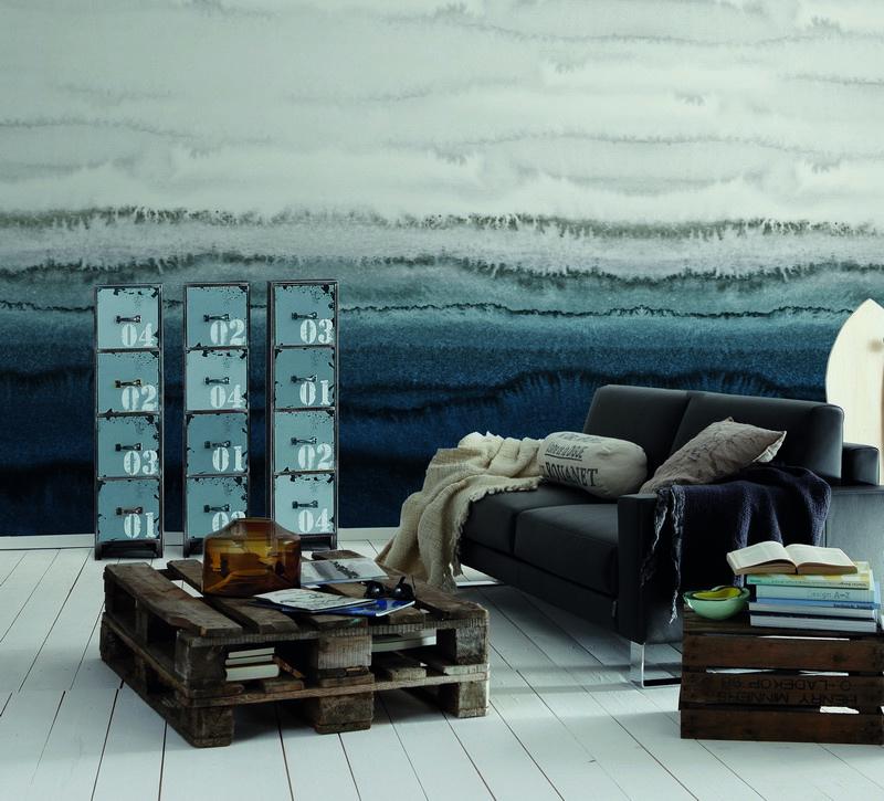 Fotowand Within the tides 2 by Monica Strigel afm. 400cm x 270cm hoog