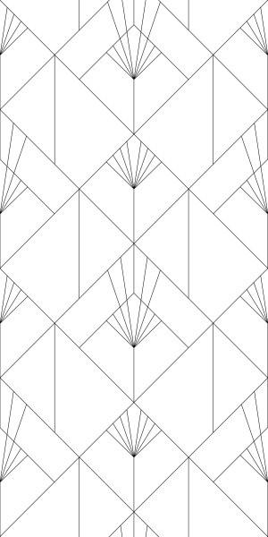 Esta Black&White 158934 photowall XL Art deco