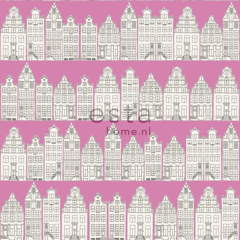 Behang Esta Denim & Co 137714 Amsterdam houses