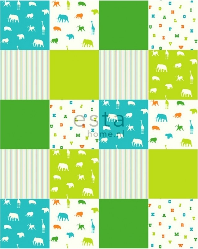 Esta Giggle 157324 Colorwall XL lime & turquoise