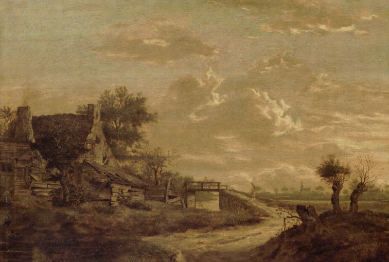 Dutch Painted Memories 8059 Landscape at sunset
