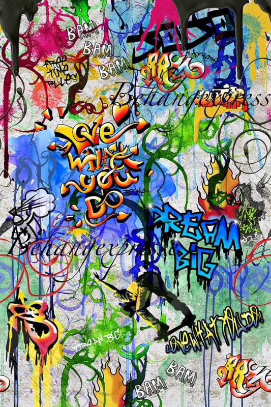 Fotobehang ColorChoc INK 6071 Graffiti