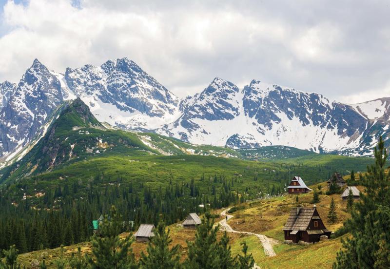 Fotobehang In de Bergen (Alpen)