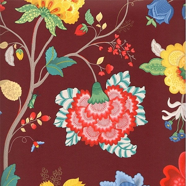 Eijffinger Pip Studio behang 341033 Floral Fantasy Burgundy