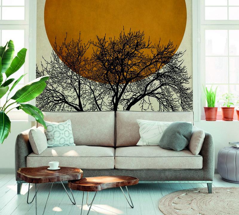 Fotowand Wintermorgen by Kubistika afm. 200cm x 280cm hoog