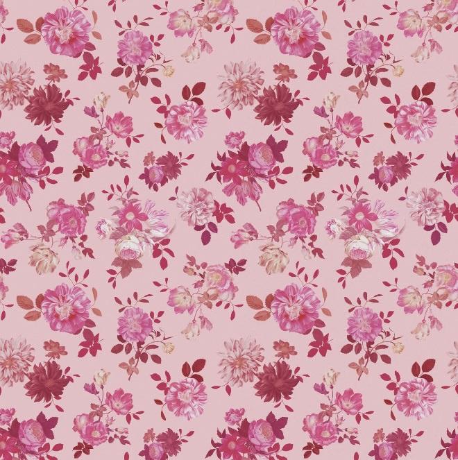 Eijffinger Rice Fotobehang 383614 Vintage Flowers Black