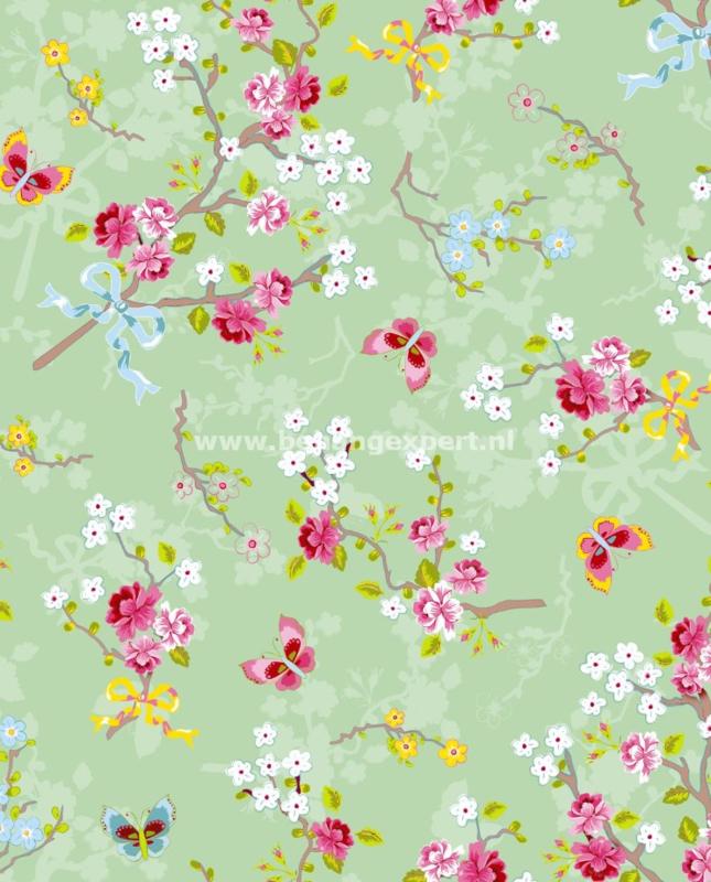 Eijffinger Pip Studio behang  386036 Chinese Rose Groen