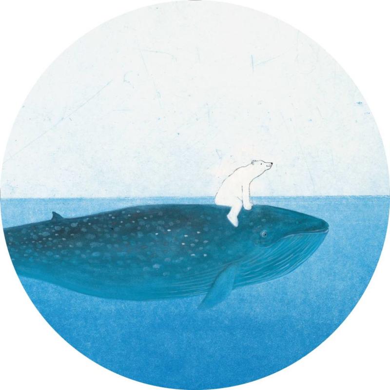 Kek Wonderwalls behangcirkel Riding The Whale CK-042
