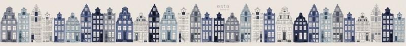 Esta Photowall XL 157713 Amsterdam houses blue