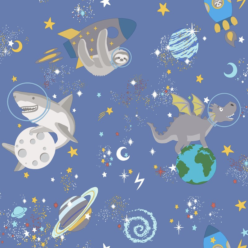 Over the Rainbow 90921 Space Animals Blue